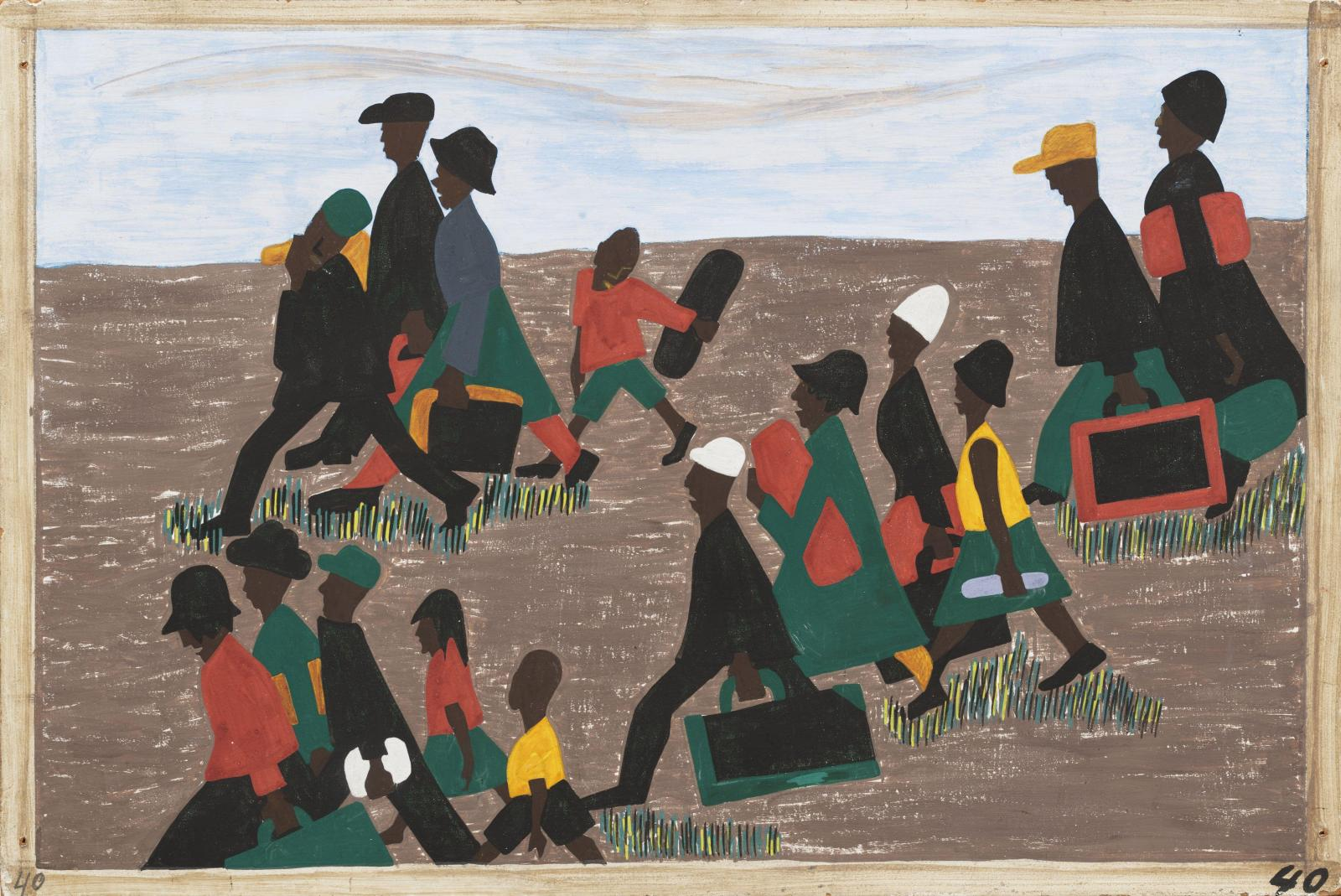 an analysis of jacob lawrence and the migration of the negro